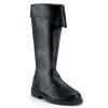 CAPTAIN-105 Black Faux Leather